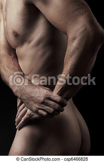 foto, joven, muscular, hombre - csp6466828