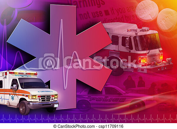 foto, medico, salvataggio, astratto, ambulanza - csp11709116