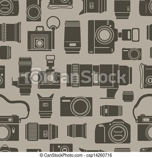 foto, modernos, seamless, technics, fundo, retro - csp14260716