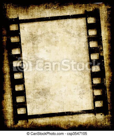 foto, negativo, faixa, grungy, ou, película - csp3547105