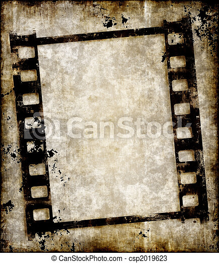 foto, nekande, remsa, grungy, eller, film - csp2019623