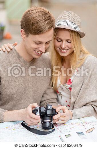 foto, pareja, cámara - csp16206479