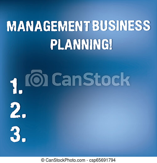 Señal de texto que muestra planificación de negocios de gestión. Foto conceptual enfocada en pasos para hacer que el negocio tenga éxito luz borrosa parpadeando en espacio azul claro para el papel de póster. - csp65691794