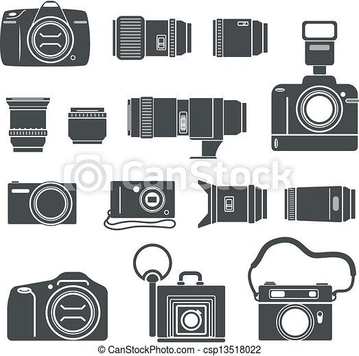 foto, silhuetas, modernos, retro, technics - csp13518022