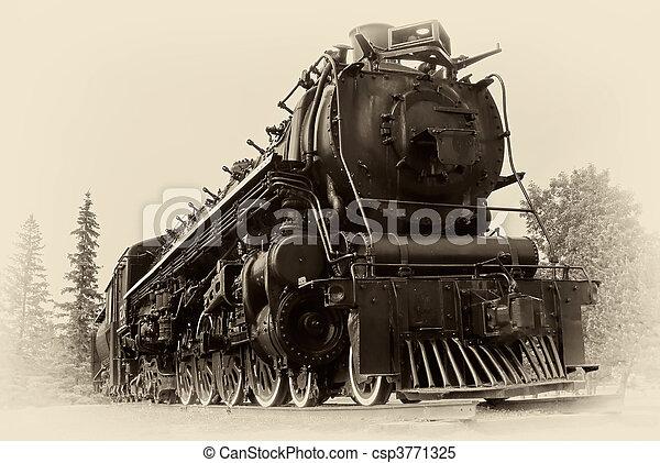 foto, stijl, trein, stoom, ouderwetse  - csp3771325
