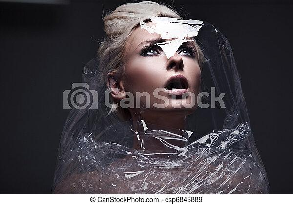 foto, toekomst, vrouw - csp6845889