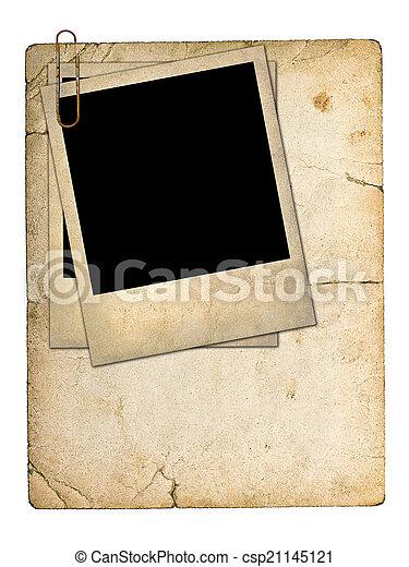 foto, vecchio, cartone, scheda - csp21145121