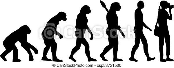 Frauenfotografen Evolution - csp53721500