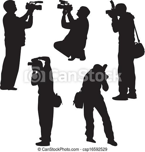 Fotografen Silhouette Vektor - csp16592529