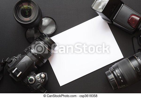 fotografia, câmera - csp3618358