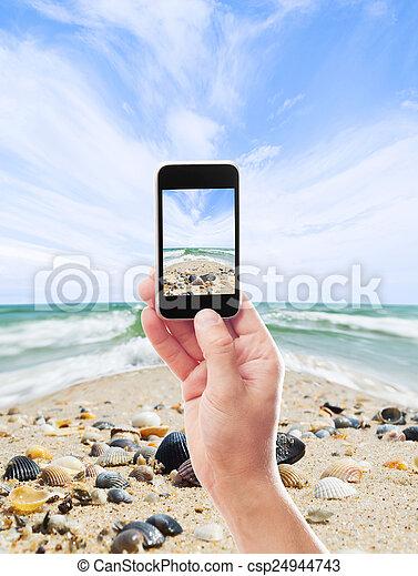 fotografia, morze, krajobraz - csp24944743