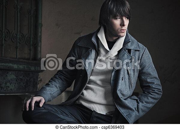 fotografie, móda, móda, chlap, hezký - csp6369403