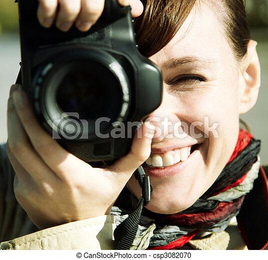 fotografo, felice - csp3082070
