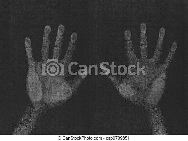 fotokopie, handen, scanderen - csp0709851