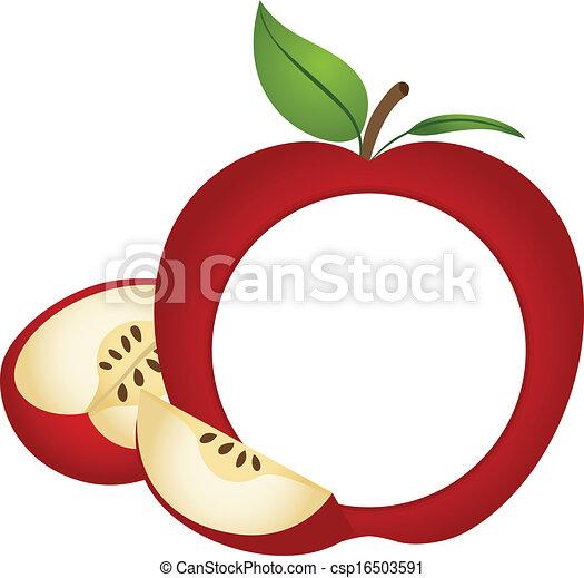 Fotorahmen Apfel Apfel Rahmen Foto Bild Vectorial