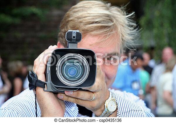 fototoestel man - csp0435136