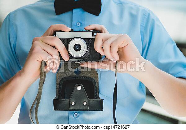 fototoestel man - csp14721627