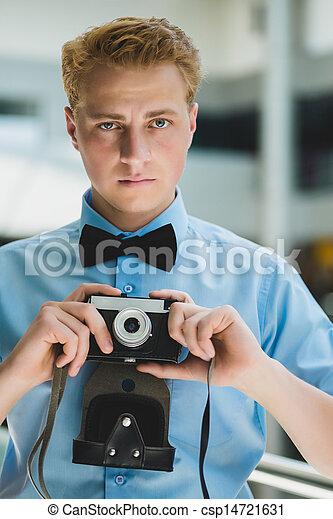 fototoestel man - csp14721631