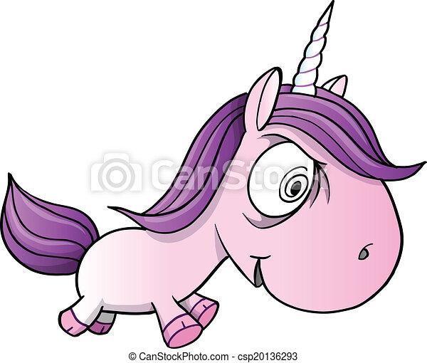 fou fou vecteur poney licorne csp20136293 - Poney Licorne
