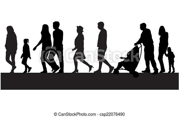 foule, gens marcher - csp22076490