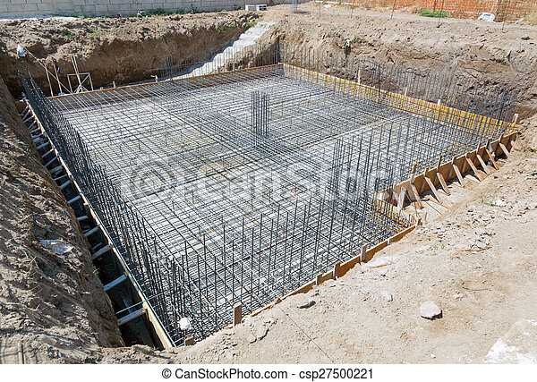 Foundation of a new house. - csp27500221