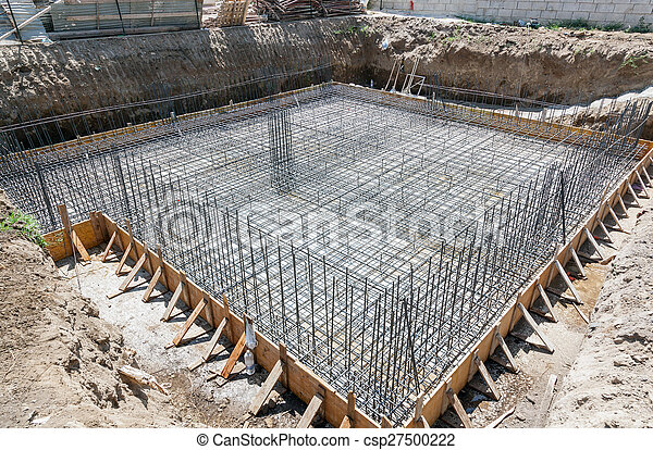 Foundation of a new house. - csp27500222