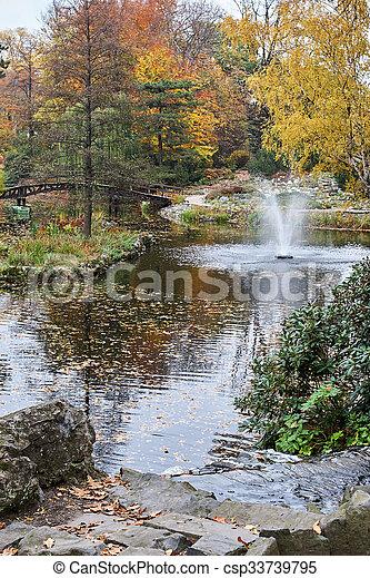 Fountain at Botanical Garden in Wroclaw - csp33739795