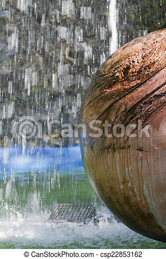 fountain gushing - csp22853162