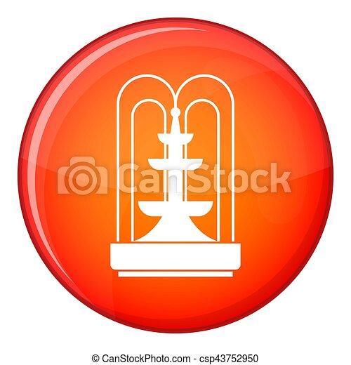 Fountain icon, flat style - csp43752950