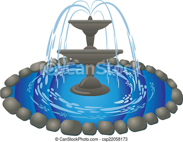 fountain rh canstockphoto com animated water fountain clipart drinking fountain clipart free