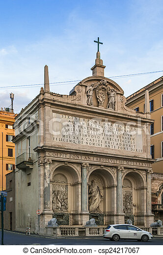 Fountain Of Moses Rome