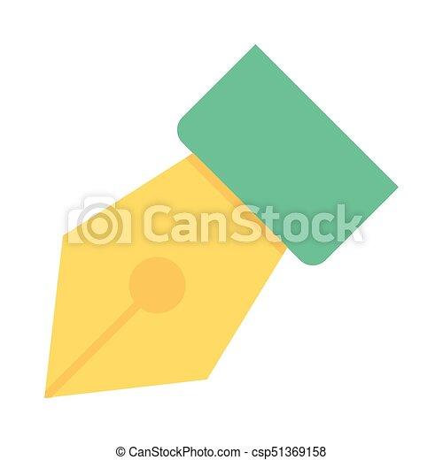 FOUNTAIN PEN FLAT ICON - csp51369158