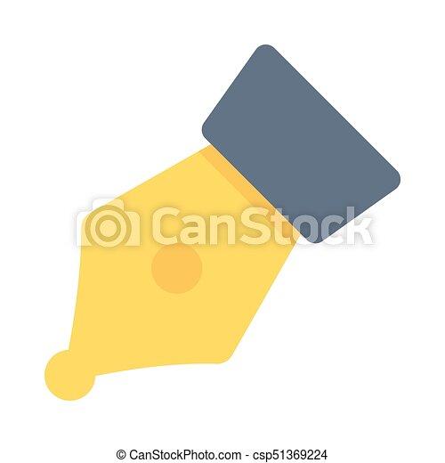 FOUNTAIN PEN FLAT ICON - csp51369224