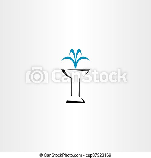 fountain vector icon symbol - csp37323169