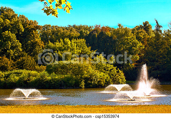 Fountains in the park - csp15353974