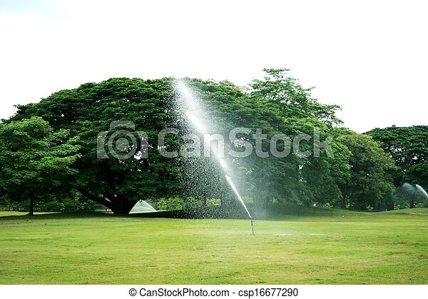 Fountains in the park - csp16677290