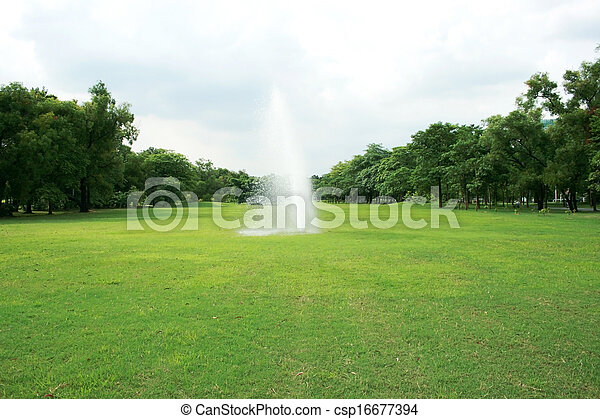 Fountains in the park - csp16677394