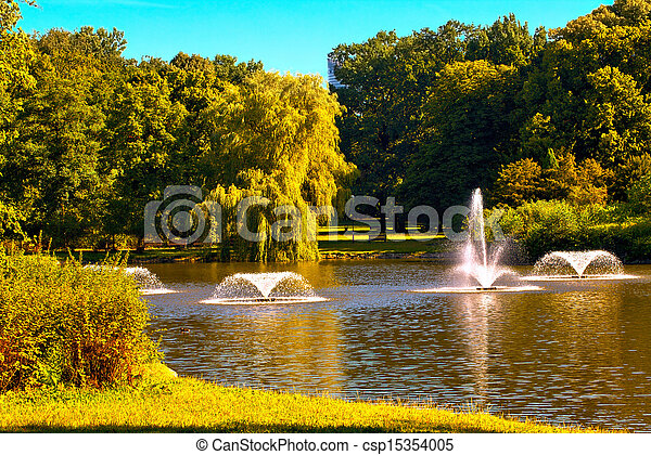 Fountains in the park - csp15354005