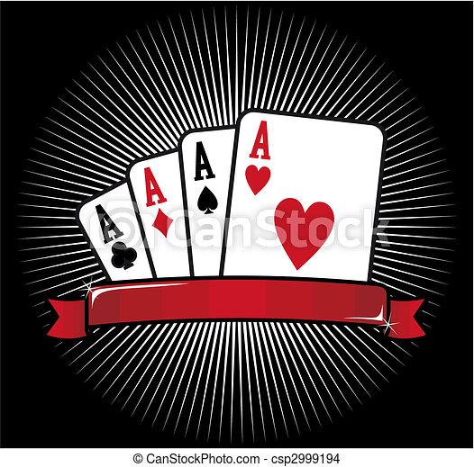 Four Aces. Poker icon - csp2999194