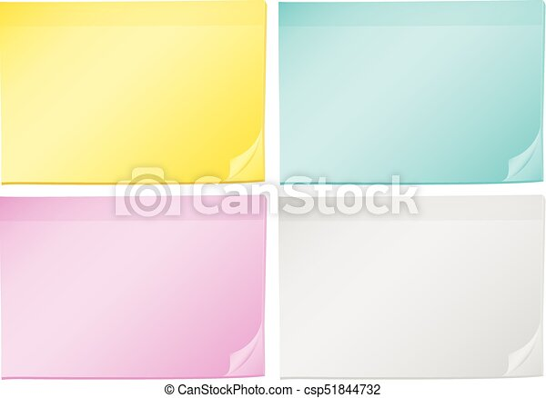 Four background templates with different color papers illustration.