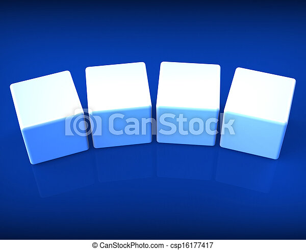 Four Blank Dice Shows Copy Space For 4 Letter Words - csp16177417