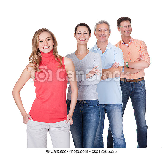 Four business associates in casual clothes - csp12285635