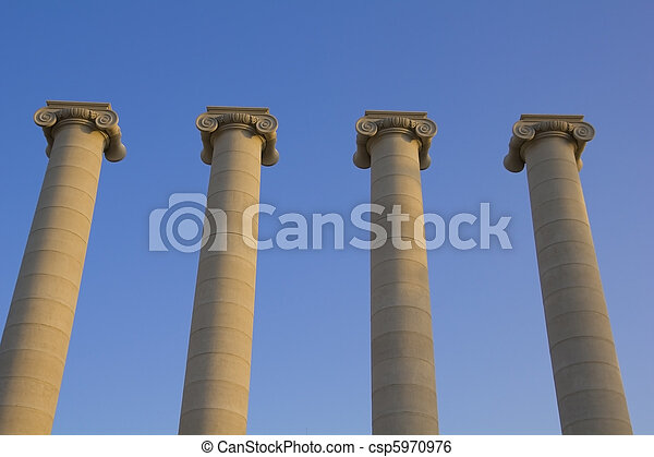 Four classical columns - csp5970976