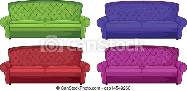 Four Colorful Sofas   Csp14549260