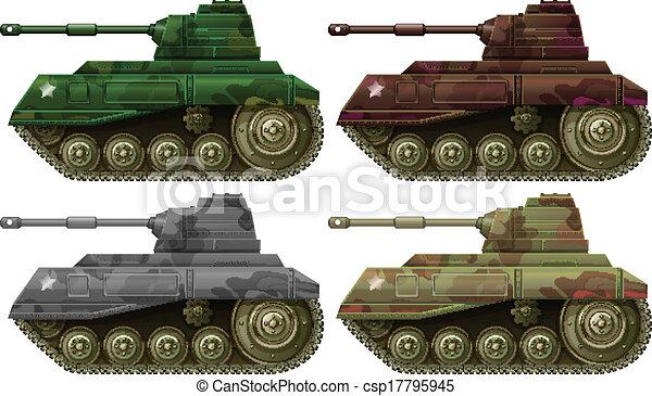 Four combat tanks - csp17795945