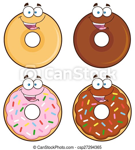 Four Cute Donuts 1. Collection - csp27294365