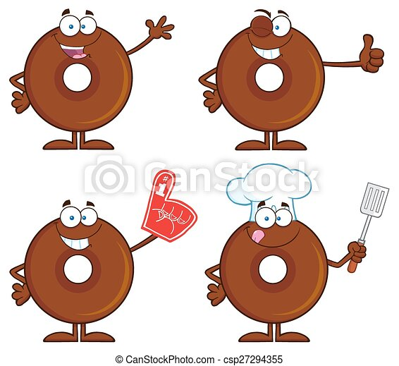Four Cute Donuts 1. Collection - csp27294355
