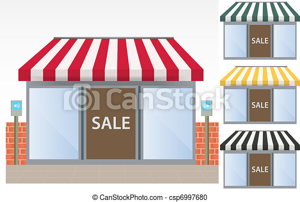 four different color vector awnings - csp6997680