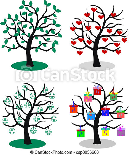 four different trees - csp8056668