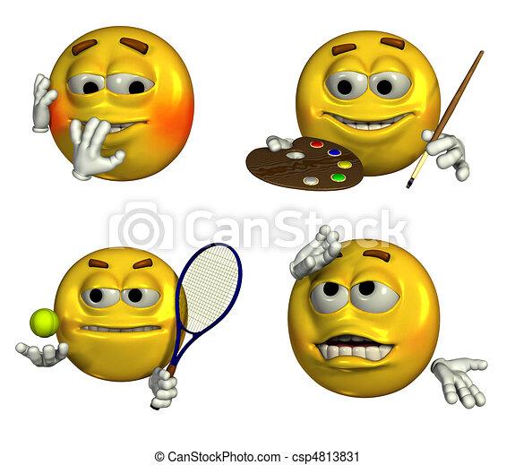 four-emoticons-7 - csp4813831